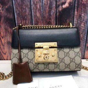 Gucci Women's Black Padlock GG Shoulder Bag